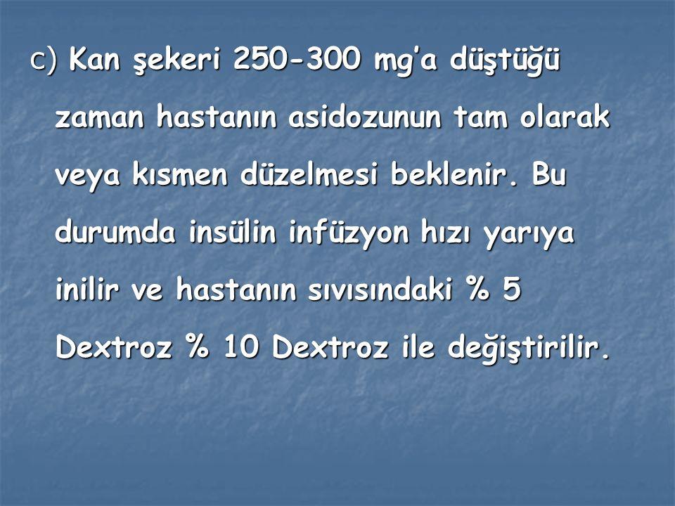 İzlem ve Genel Uyarılar İzlem ve Genel Uyarılar a ) Kan şekerinin ortalama 75 mg/saat düşmesi beklenir.