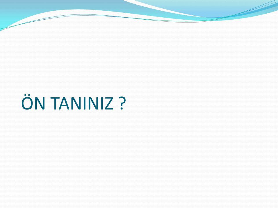 ÖN TANINIZ ?
