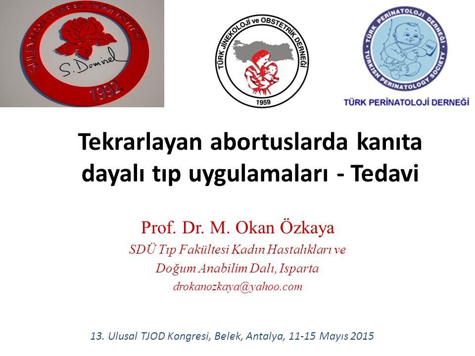 9- Koitus yasağı Uterin stimülasyon ---> uterus kontraksiyonu Spermdeki PG etkisi Meme stimülasyonu – orgazm ---> oksitosin artar Sonuçta abortus olabilir.