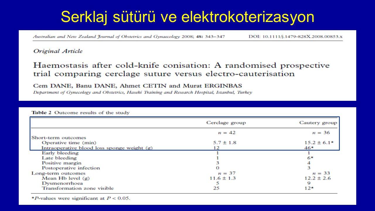 Serklaj sütürü ve elektrokoterizasyon