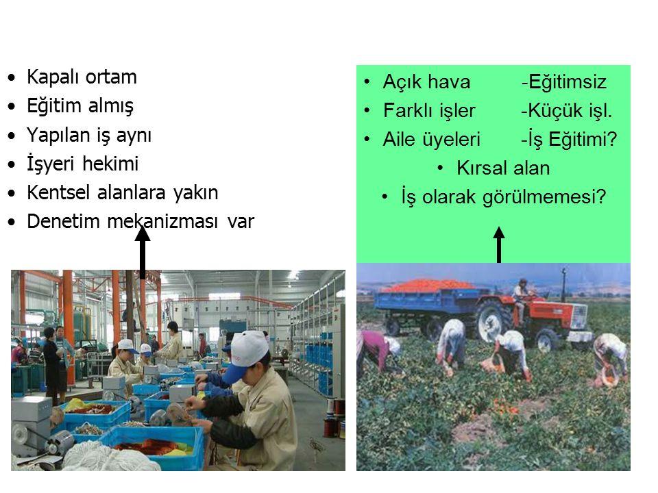 Tarım toplumlarında öne çıkan sağlık sorunları Kişi, yer ve zaman özelliklerine bağlı değişim göstermekle birlikte genel olarak; 1.