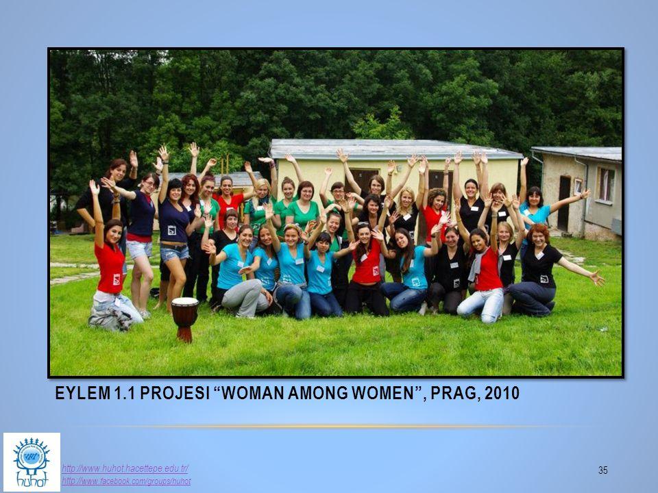 "EYLEM 1.1 PROJESI ""WOMAN AMONG WOMEN"", PRAG, 2010 35 http://www.huhot.hacettepe.edu.tr/ http:// www.facebook.com/groups/huhot"