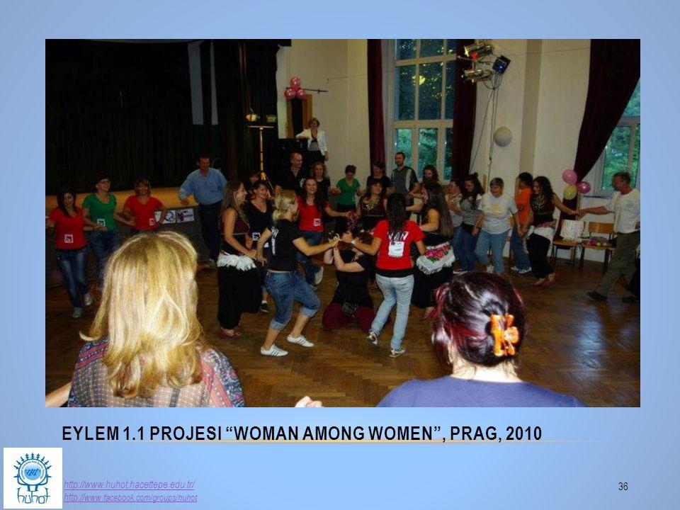 "EYLEM 1.1 PROJESI ""WOMAN AMONG WOMEN"", PRAG, 2010 36 http://www.huhot.hacettepe.edu.tr/ http:// www.facebook.com/groups/huhot"