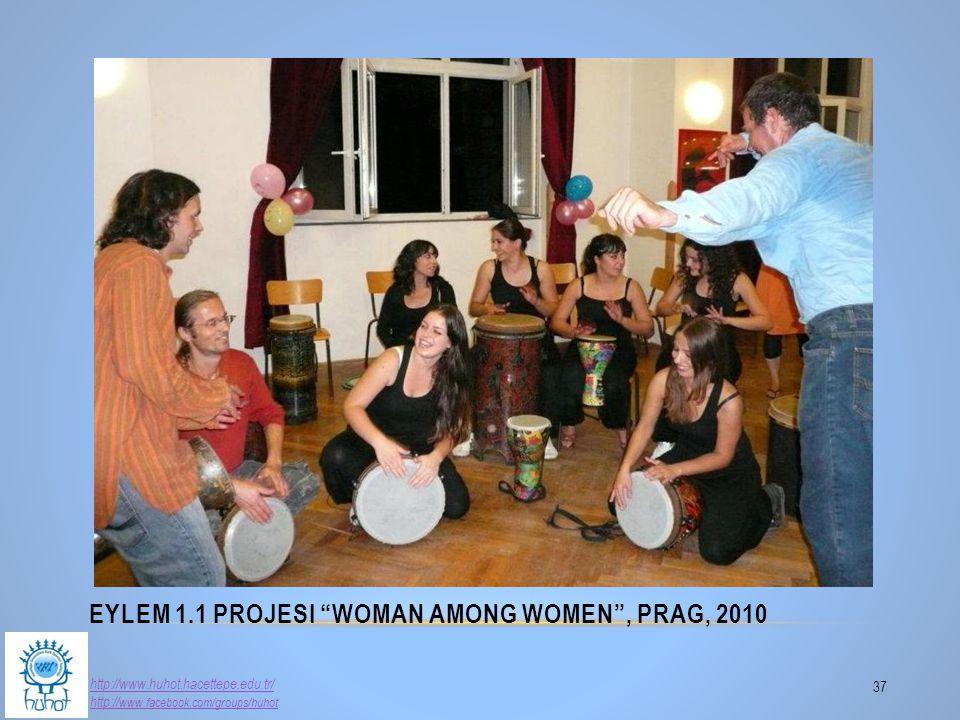 "EYLEM 1.1 PROJESI ""WOMAN AMONG WOMEN"", PRAG, 2010 37 http://www.huhot.hacettepe.edu.tr/ http:// www.facebook.com/groups/huhot"