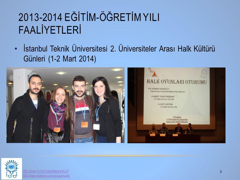 İstanbul Teknik Üniversitesi 2. Üniversiteler Arası Halk Kültürü Günleri (1-2 Mart 2014) 2013-2014 EĞİTİM-ÖĞRETİM YILI FAALİYETLERİ 8 http://www.huhot