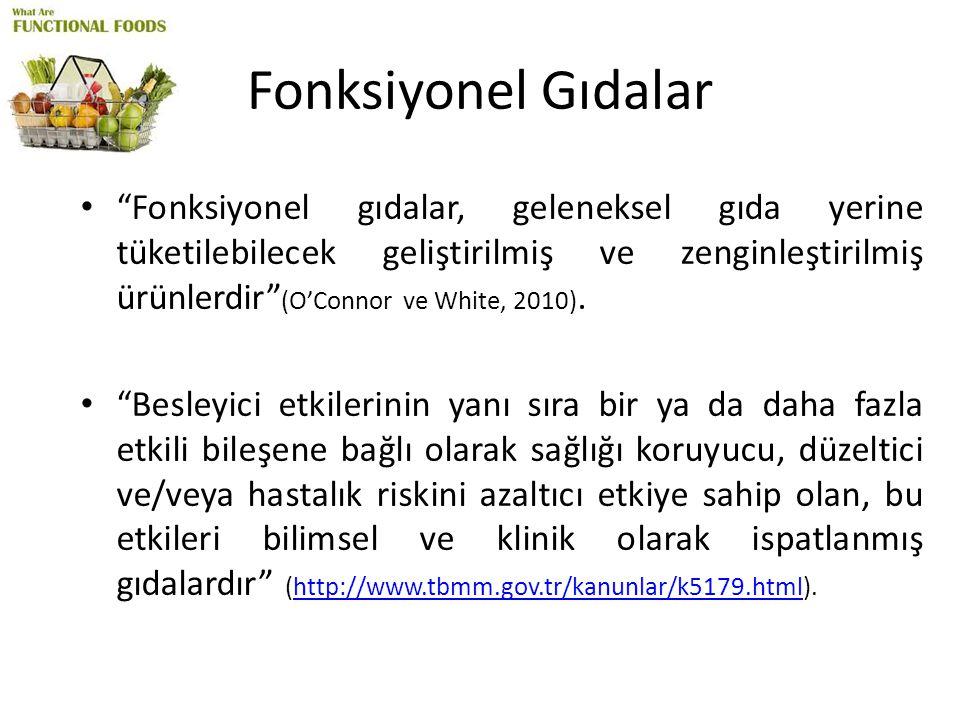Sonuç ve Öneriler Türkiye'de fonksiyonel gıda pazarı zaman içinde büyüme gösterse de, tüketim henüz düşük seviyededir.