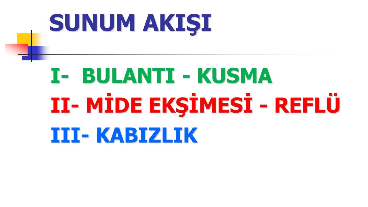I- BULANTI - KUSMA C- Dopamin antagonistleri; 4- Droperidol (Bebelik kategorisi C) Türkiye'de Dehydrobenzperidol Ampul 2.5 mg/ml formunda mevcutur.