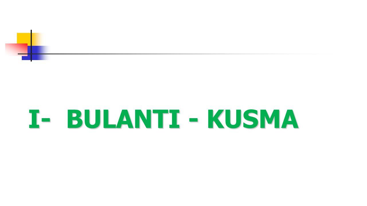 I- BULANTI - KUSMA