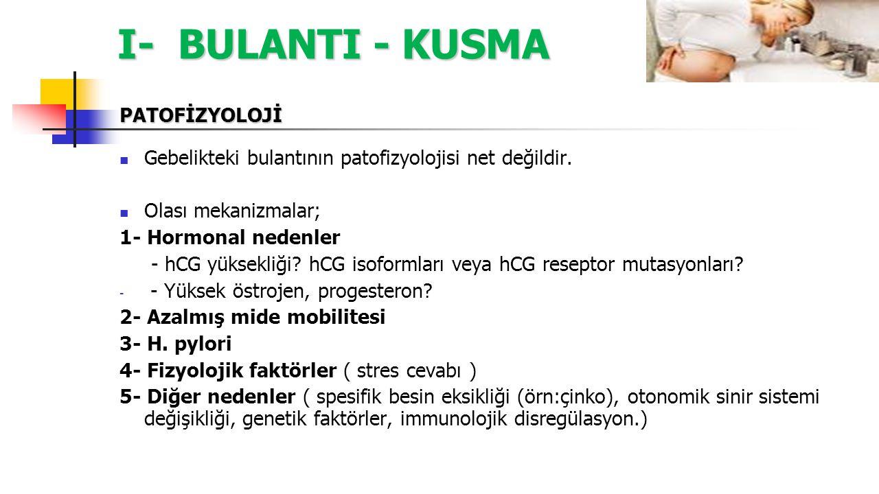 I- BULANTI - KUSMA B- Antihistaminikler ( H1 antagonistleri) 2- Meclizine (Gebelik kategorisi B) Türkiye'de Postadoxin tb adıyla mevcutur, (Meclizine HCl,25 mg; Vitamin B6, 50 mg ) 25 mg, 4*1, oral Meclizine ratlarda yarık damak ile ilişkilendirilmiştir ancak bu ilişki töropotik dozlardan çok daha yüksek dozlarda izlenmiştir.