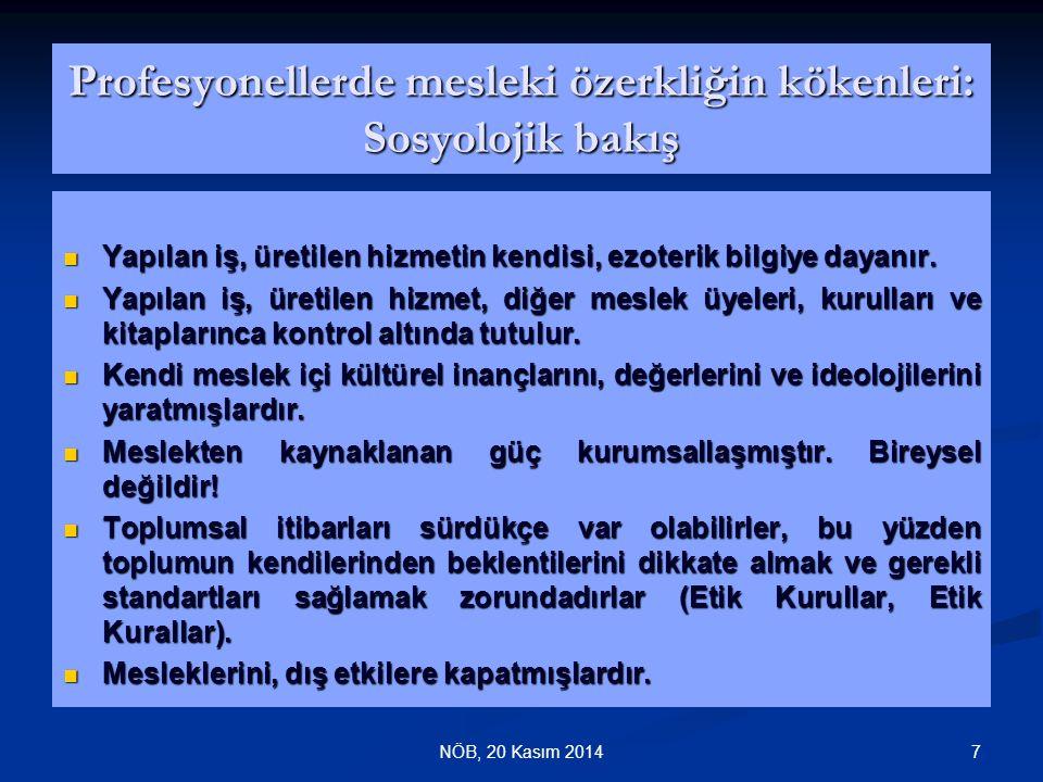 38NÖB Sosyo-Kültürel Yapısıyla Türk Toplumunda Hekim-Hasta İlişkileri Hasta; doktorun bilgi, deneyim ve uzmanlığa sahip kişi olarak otorite olduğunu kabul etmiştir.