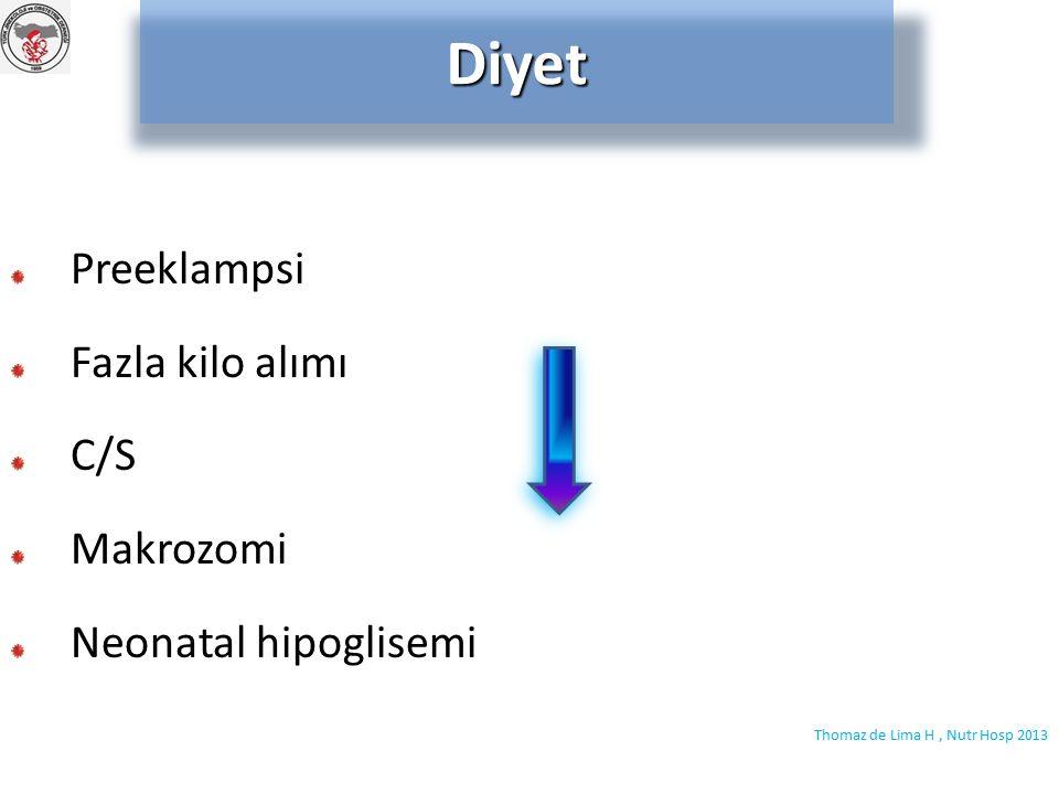 İnsülin gliburid İnsülin vs gliburidMeta-analiz Maternal hipoglisemi Makrozomi, neonatal hipoglisemiGliburid Zeng YC, Adv Med Sci 2014 Balsells M, BMJ 2015 Metformin kullanılmalı !!!