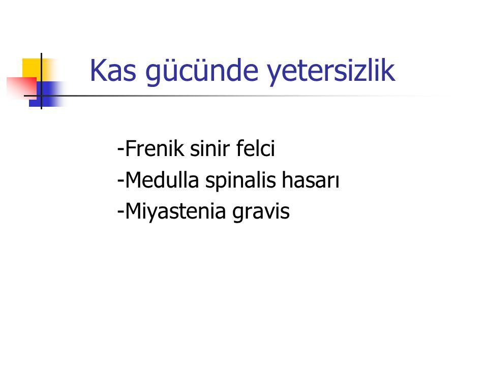 MSS ile ilgili sorunlar -Prematüre apnesi -İlaç etkisi -Konvülsiyonlar -HİE -Kanama