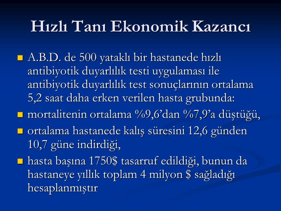 Hızlı Tanı Ekonomik Kazancı A.B.D.