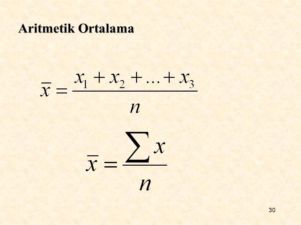 Aritmetik Ortalama 30