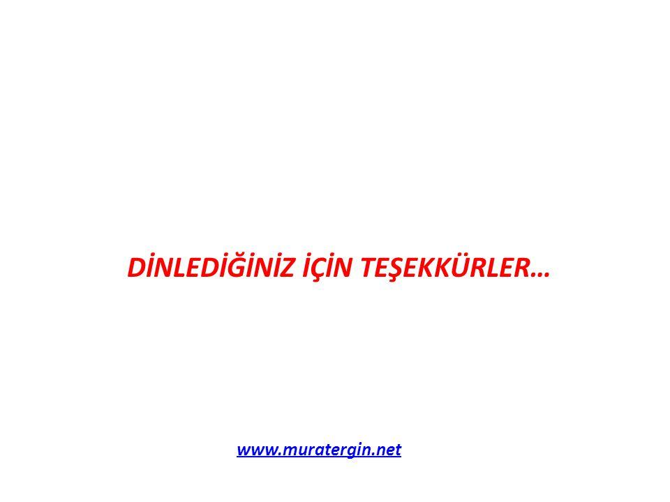 DİNLEDİĞİNİZ İÇİN TEŞEKKÜRLER… www.muratergin.net