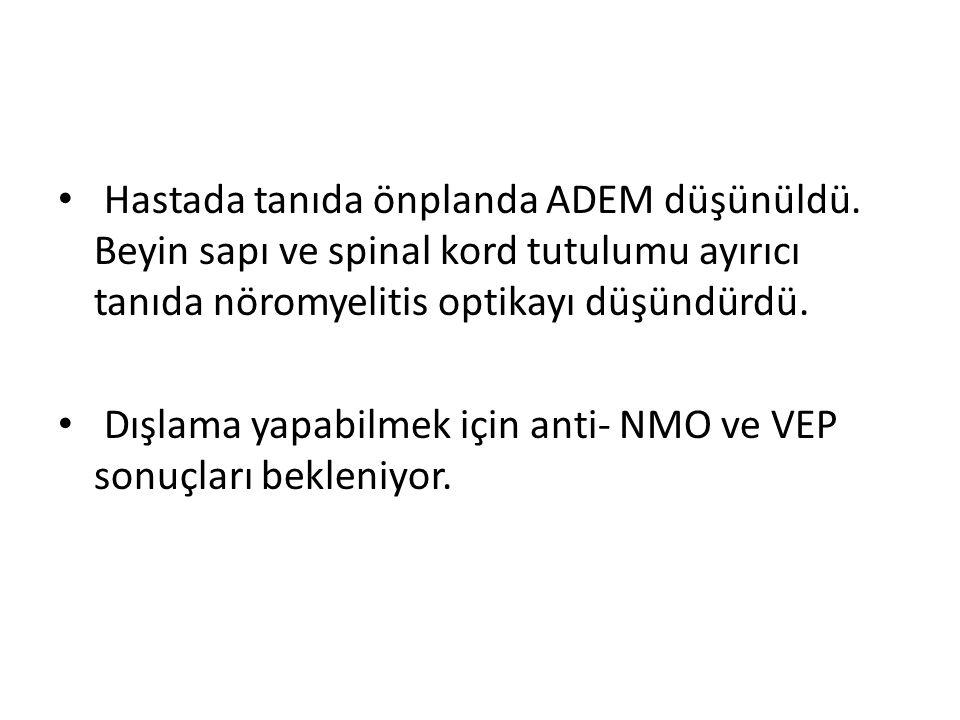 Hastada tanıda önplanda ADEM düşünüldü.