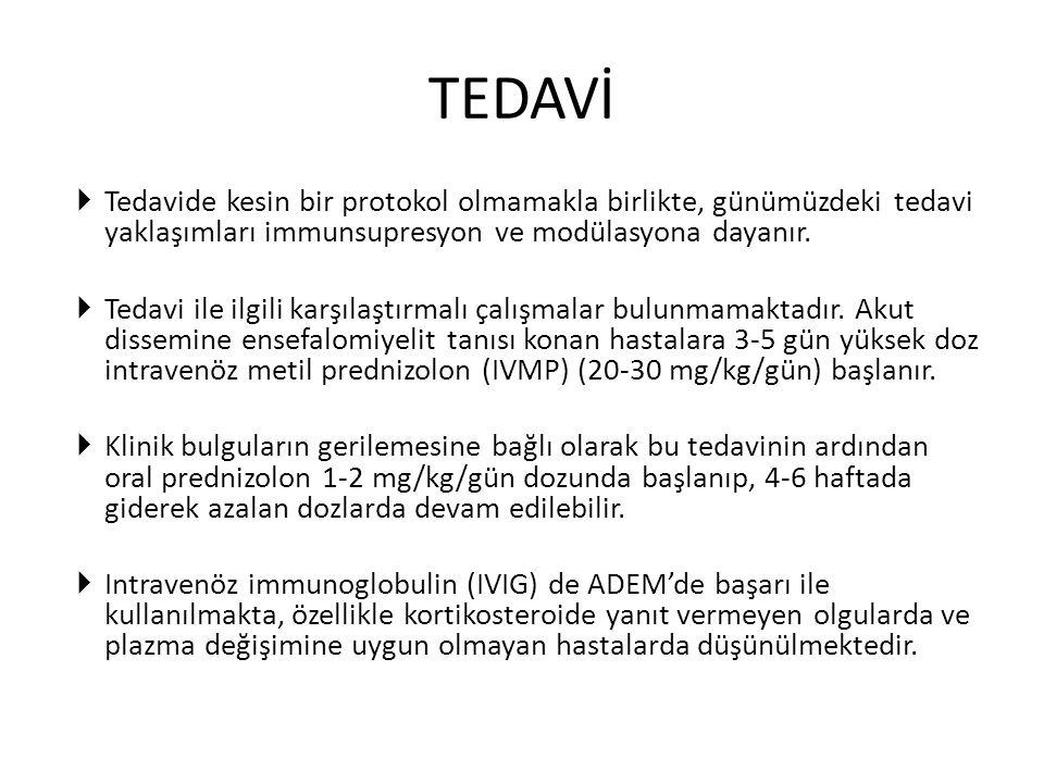  Tedavide kesin bir protokol olmamakla birlikte, günümüzdeki tedavi yaklaşımları immunsupresyon ve modülasyona dayanır.