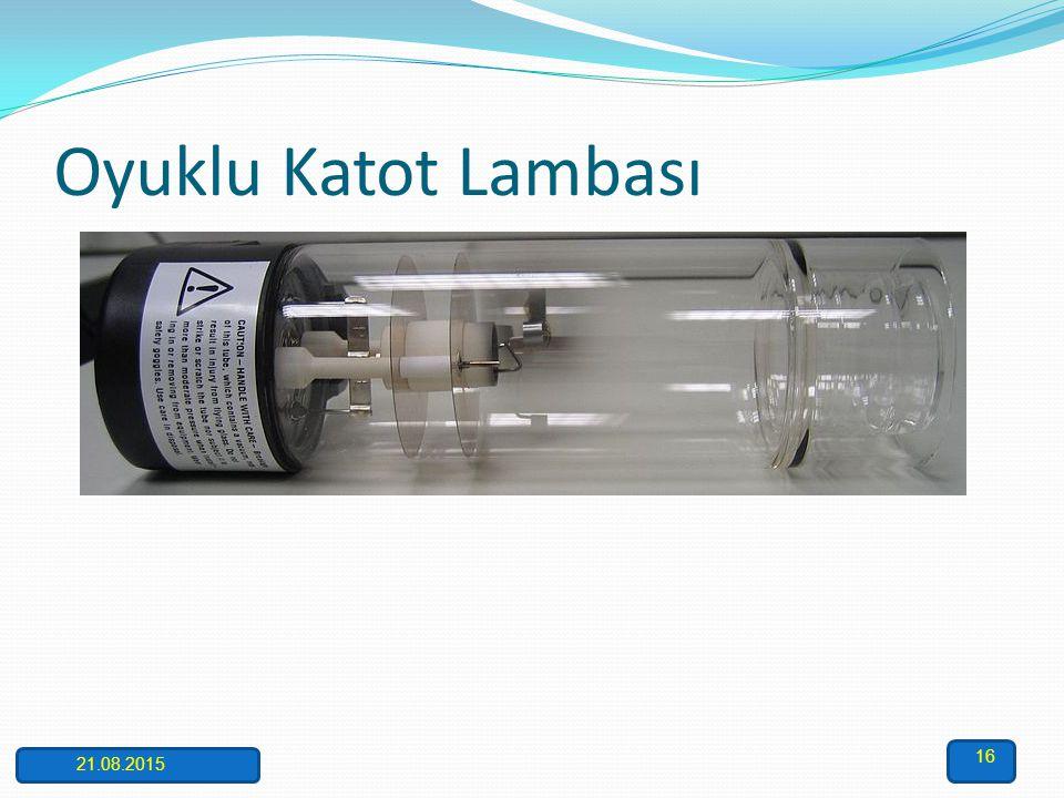 Oyuk Katot Lambası AAS'de kullanılan ışık kaynaklarından biri olan ve en fazla tercih edilen oyuk katot lambası düşük basınçta neon veya argon gibi as
