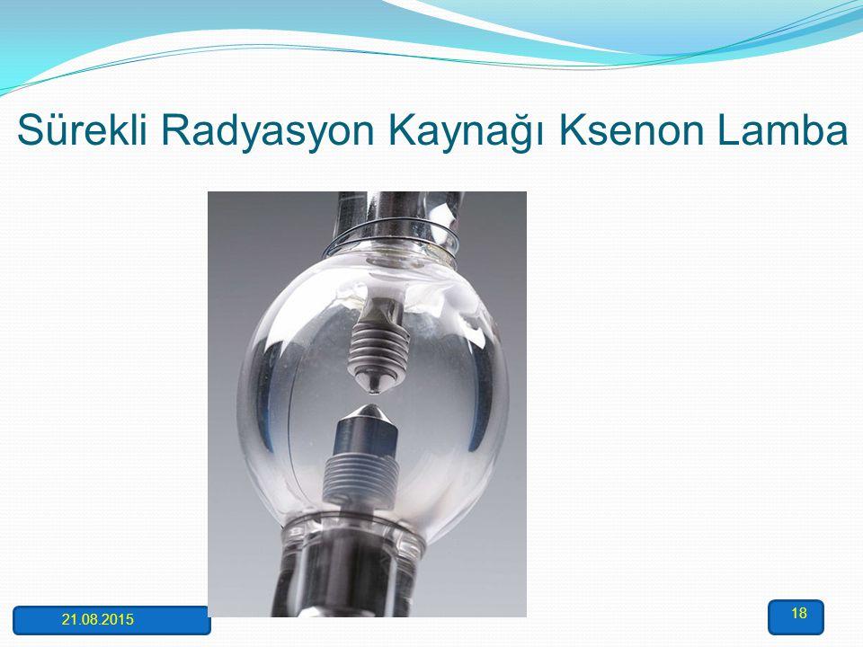 Elektrotsuz boşalım lambası AAS'de kullanılan diğer bir ışık kaynağı ise elektrotsuz boşalım lambalarıdır. Bu lamba ise uçucu ve absorpsiyonu 200 nm'd
