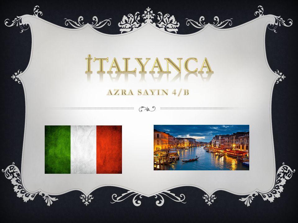  Arjantin  İtalya  Hırvatistan  San Marino  İsviçre  Slovenya  Eritre NOT:60 milyon kişi tarafından konuşulan bir dildir.