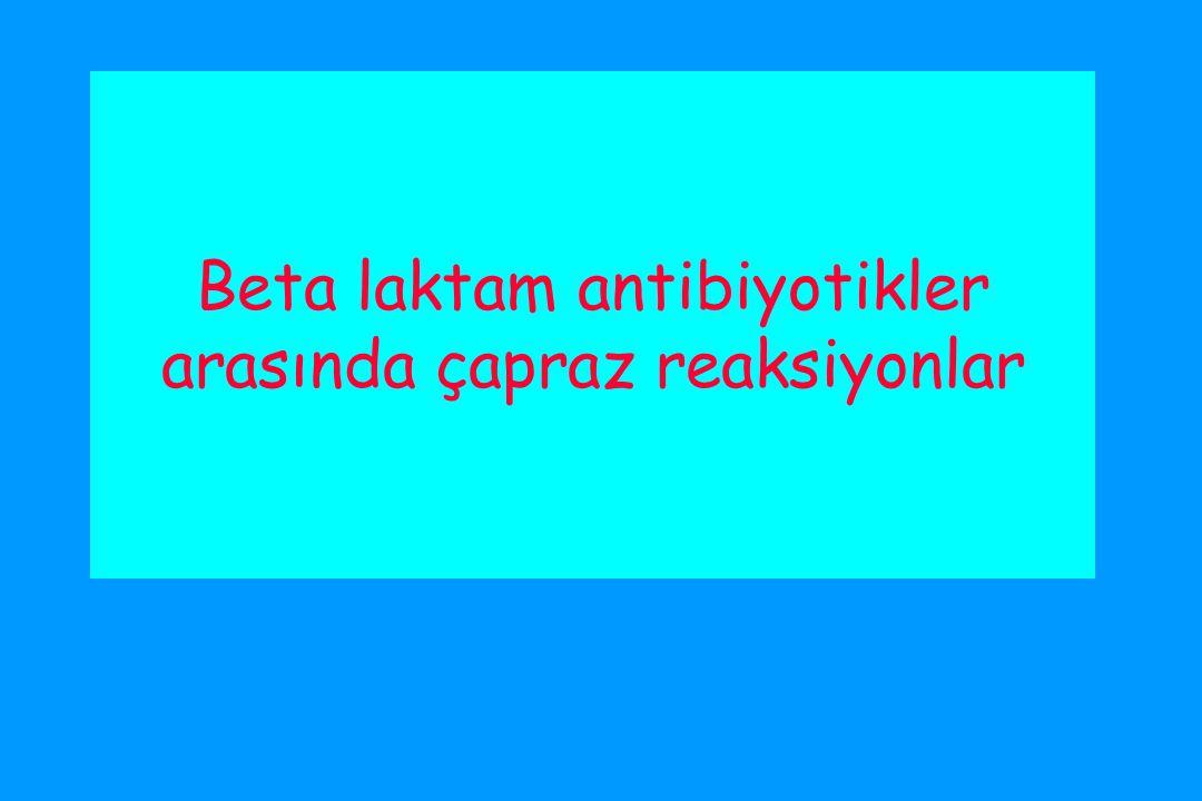 Beta laktam antibiyotikler arasında çapraz reaksiyonlar