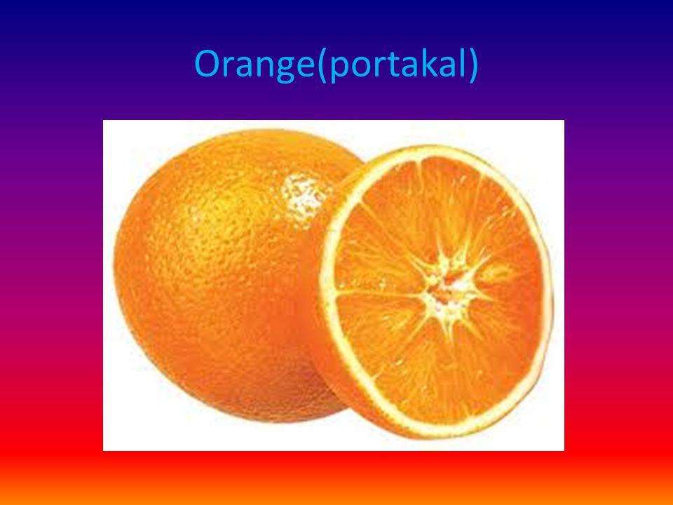 Orange(portakal)