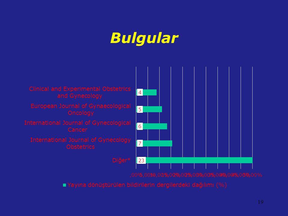 Bulgular 19
