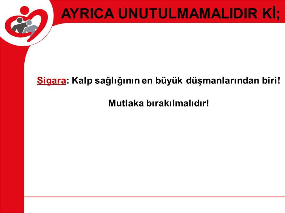 AYRICA UNUTULMAMALIDIR Kİ; Sigara: Kalp sağlığının en büyük düşmanlarından biri! Mutlaka bırakılmalıdır!