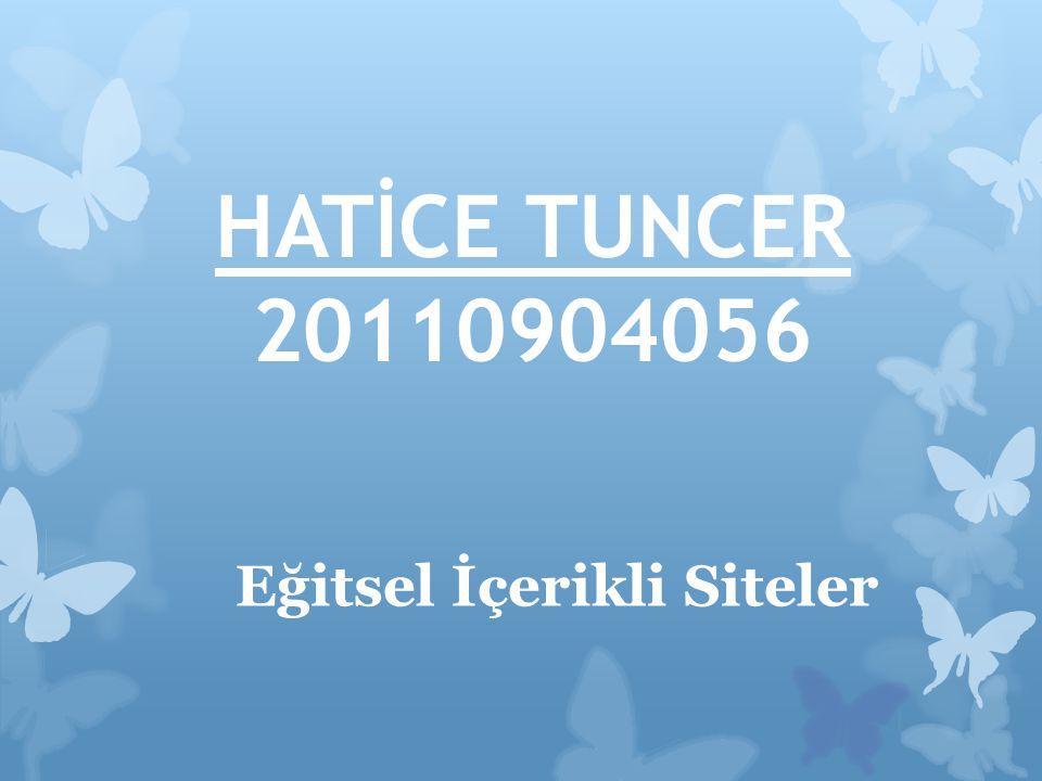 HATİCE TUNCER 20110904056 Eğitsel İçerikli Siteler