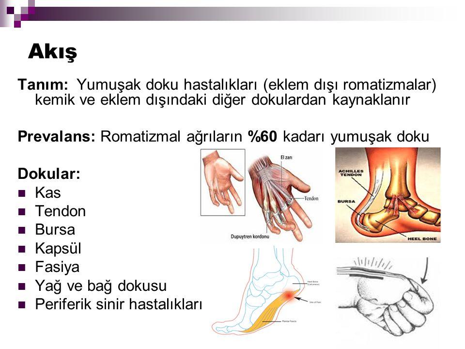 MAS Tanısı Klinik bir tanı Anamnez ve ağrı paterni Tanıda anahtar: Tetik nokta ve refere ağrı Ek: Diagnostik enjeksiyon yapılabilir
