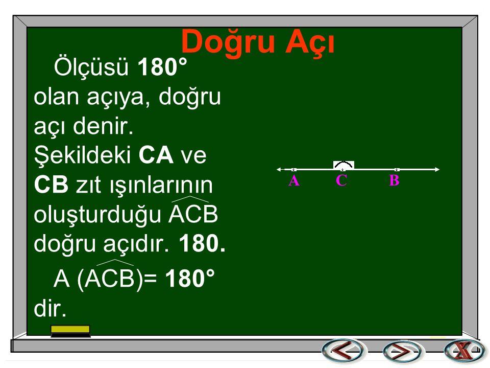 Geniş açı  Geniş Açı. Ölçüsü 90 0 ile 180 0 arasında olan açıya, geniş açı denir.