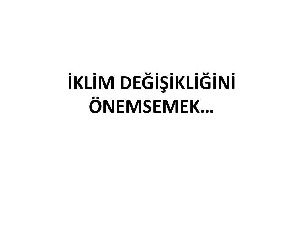 İKLİM DEĞİŞİKLİĞİNİ ÖNEMSEMEK…