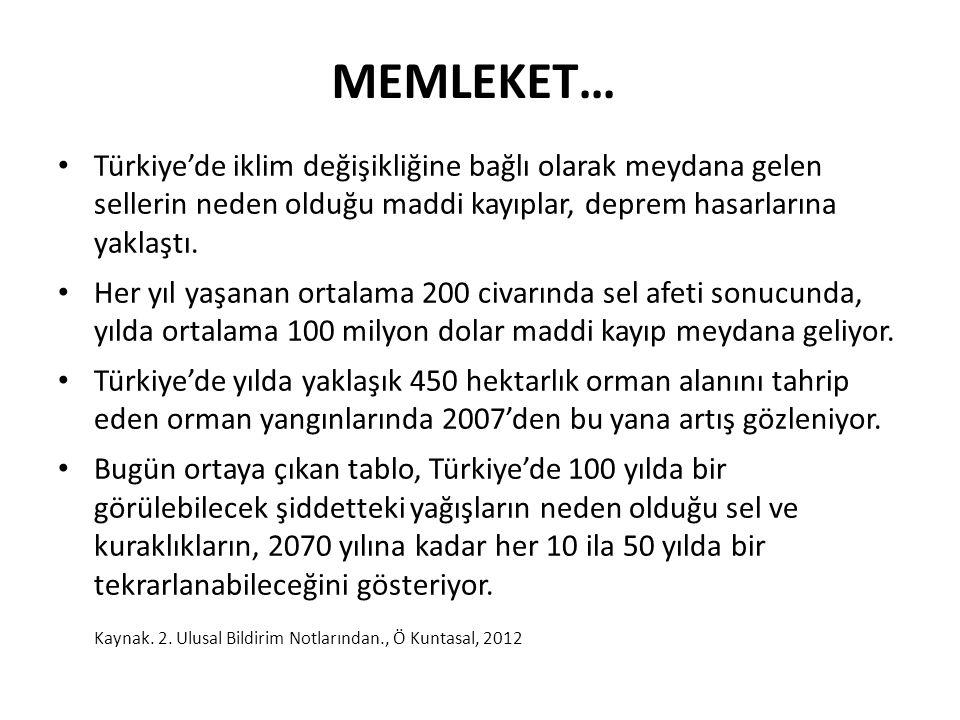 Türkiye'de iklim değişikliğine bağlı olarak meydana gelen sellerin neden olduğu maddi kayıplar, deprem hasarlarına yaklaştı. Her yıl yaşanan ortalama