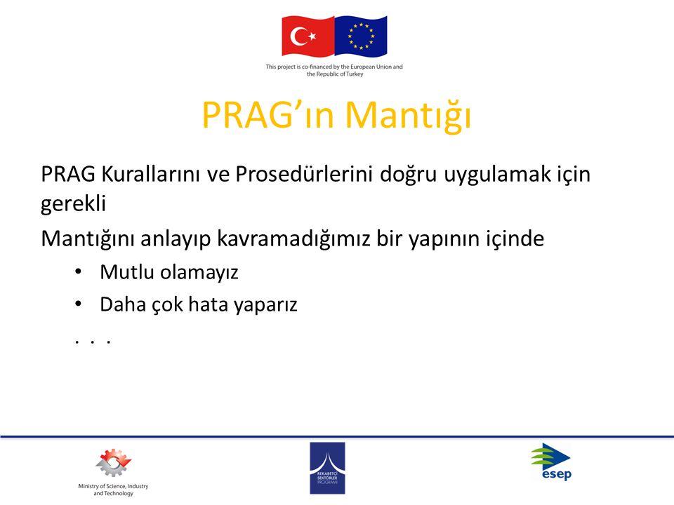 PRAG'ın Mantığı PRAG Kurallarını ve Prosedürlerini doğru uygulamak için gerekli Mantığını anlayıp kavramadığımız bir yapının içinde Mutlu olamayız Dah