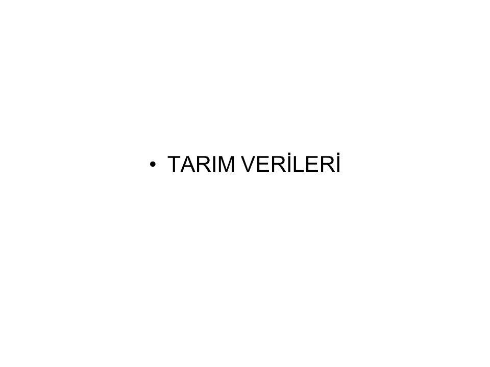 TARIM VERİLERİ
