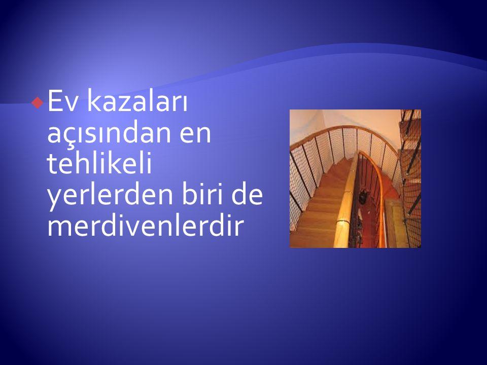  Tırabzanlar: Merdivenlerin en azından bir tarafında sürekli tırabzan bulunmalıdır.