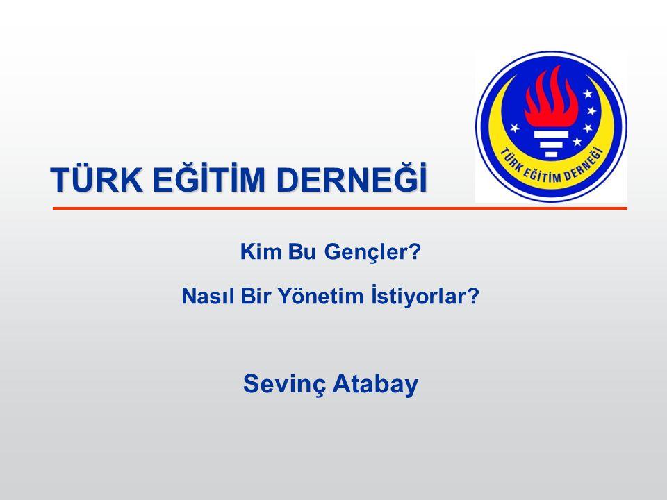 TÜRK EĞİTİM DERNEĞİ Millward Brown, Y Kuşağı İnovasyon Araştırması, Deloitte Eğitim Vakfı 19 Kasım – 19 Aralık 2012 tarihleri arasında Türkiye hariç 16 ülkede, 28 Mart – 5 Nisan 2013 tarihleri arasında da Türkiye genelinde yapılmıştır.