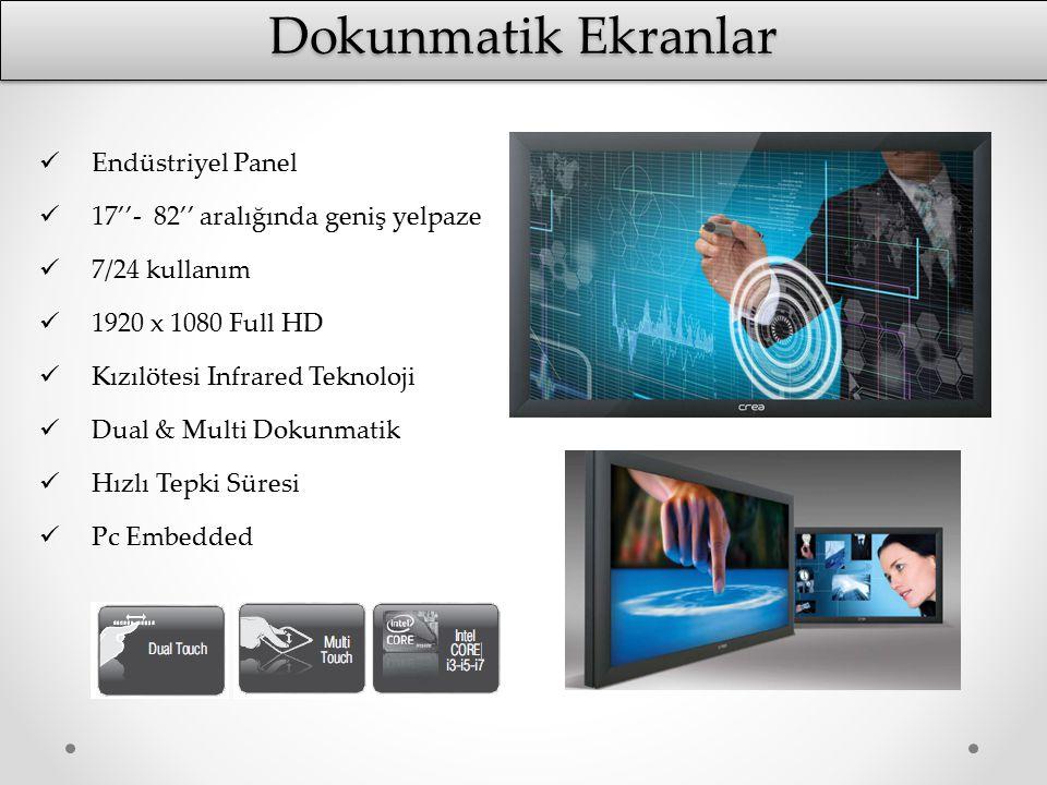 Dokunmatik Ekranlar Endüstriyel Panel 17''- 82'' aralığında geniş yelpaze 7/24 kullanım 1920 x 1080 Full HD Kızılötesi Infrared Teknoloji Dual & Multi