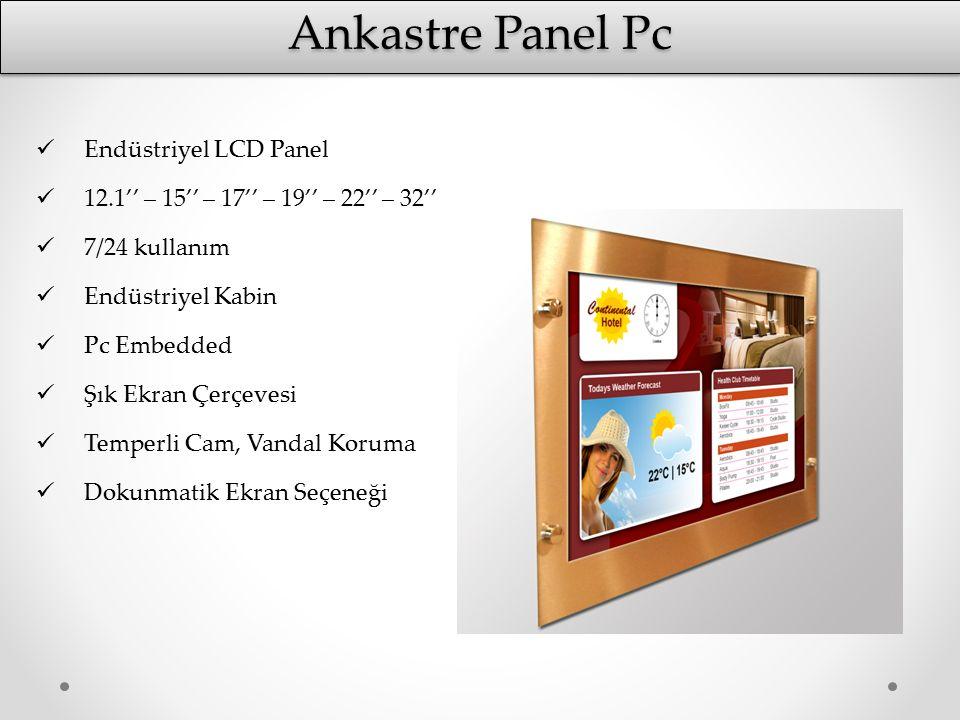 Ankastre Panel Pc Endüstriyel LCD Panel 12.1'' – 15'' – 17'' – 19'' – 22'' – 32'' 7/24 kullanım Endüstriyel Kabin Pc Embedded Şık Ekran Çerçevesi Temp
