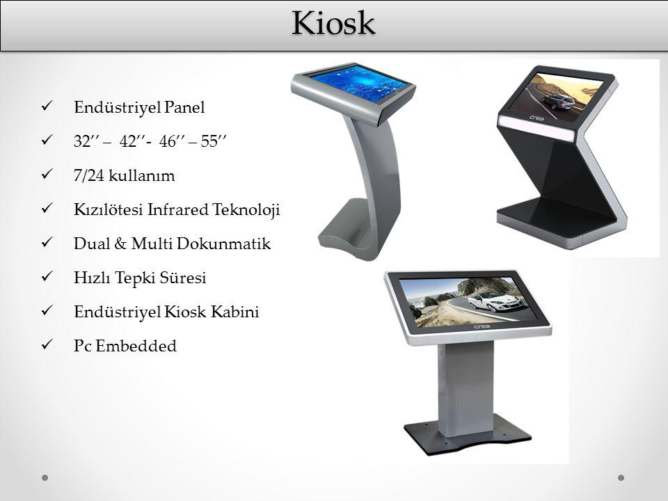 KioskKiosk Endüstriyel Panel 32'' – 42''- 46'' – 55'' 7/24 kullanım Kızılötesi Infrared Teknoloji Dual & Multi Dokunmatik Hızlı Tepki Süresi Endüstriy