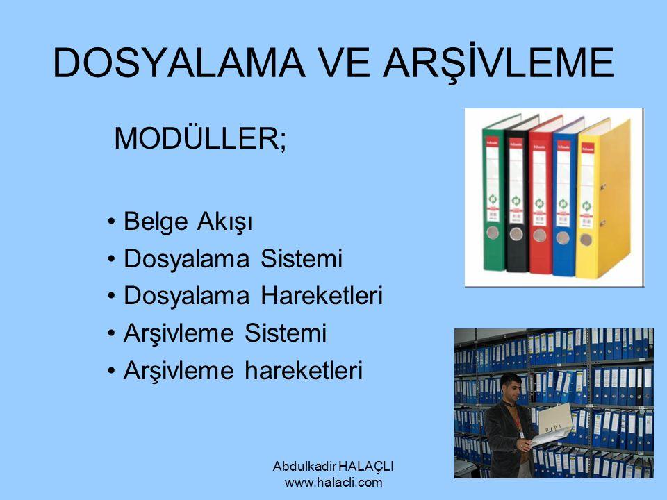 Abdulkadir HALAÇLI www.halacli.com Adres Yazan Makineler (Adresograf) Sürekli olarak aynı adrese yazı gönderen kurumlar için bu makineler kullanılabilir.