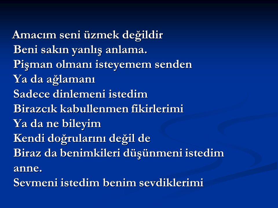 YANLIŞ ANLAMA ANNE !!!! YANLIŞ ANLAMA ANNE !!!! (Bir şiir)