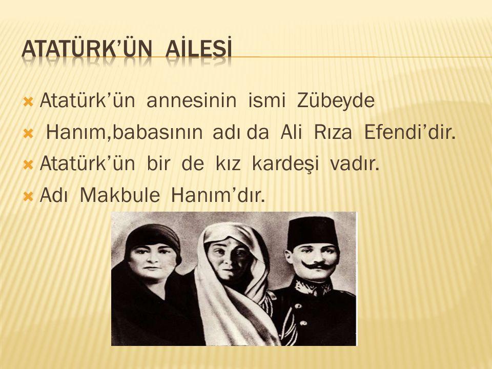  Atatürk ilk önce Mahalle Mektebine sonra  Şemsi Efendi İlkokuluna gitti.Daha sonra da  Askerî Rüştiye gibi birbirinden güzel okullarda  okudu.