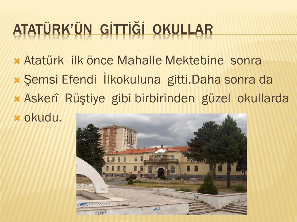  Atatürk tek çocukları değil bütün vatanını çok  seven bir insandı.Atatürk düşmanlar  yurdumuza girince yinede pes etmeyerek  halka cesaret vermiştir.