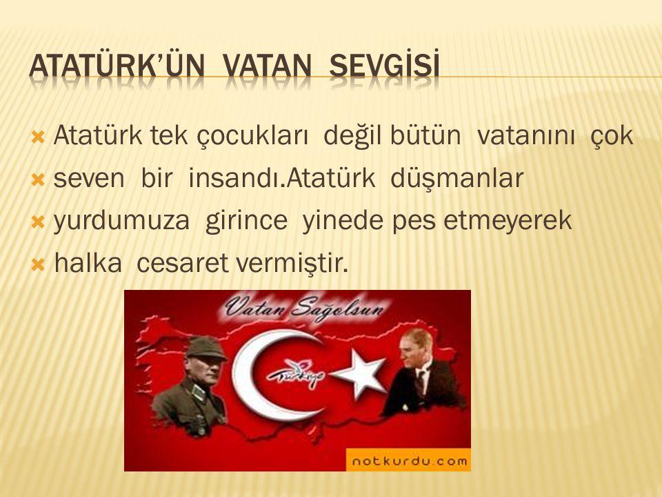  Atatürk bu iyilikleri yaptıktan sonra Gazi olarak  hayata gözlerini yumdu.Helal olsun vatanımızı  kurtaran Gazilere ve şehitlere.En başta da Atatürk'e…  Şevval  Nur  Alataş