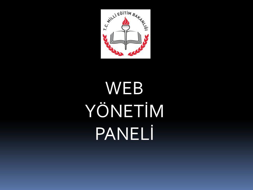 WEB YÖNETİM PANELİ