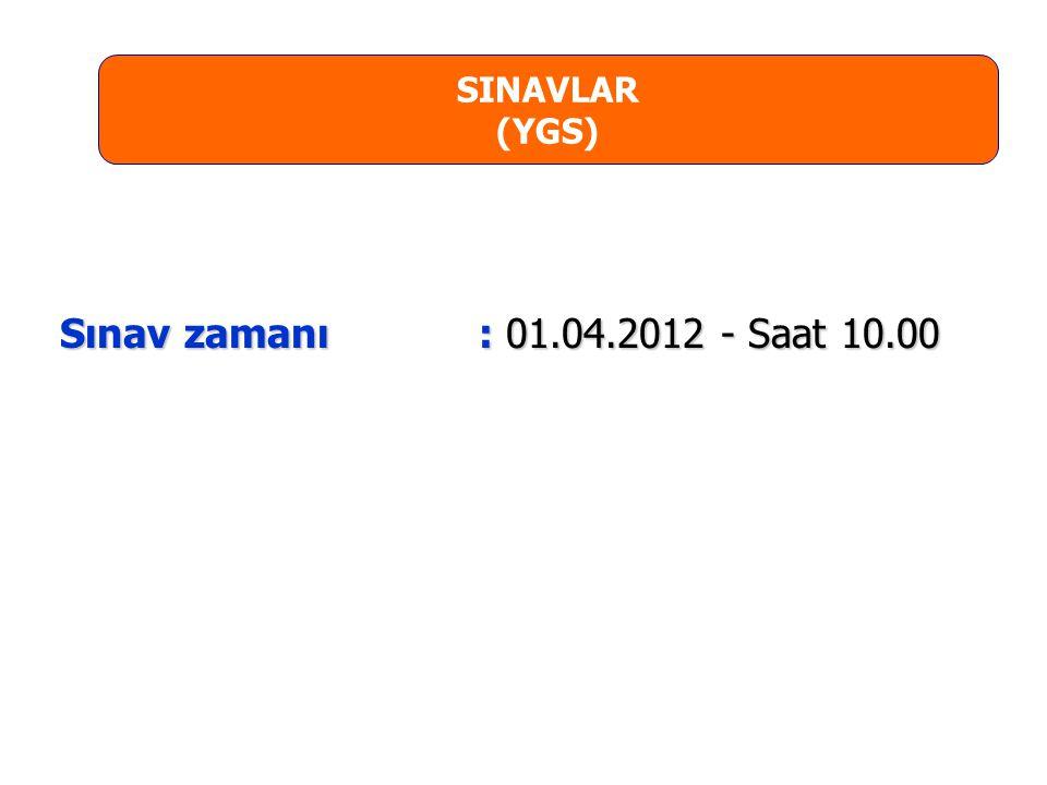 LYS-3 (Edebiyat-Coğrafya) SINAVI: Türk Dili ve Edebiyatı testi : 56 Soru, 85 dakika Türk Dili ve Edebiyatı testi : 56 Soru, 85 dakika Coğrafya-1 testi : 24 Soru, 35 dakika Coğrafya-1 testi : 24 Soru, 35 dakika TOPLAM: 80 Soru, 120 dakika  Türk Dili ve Edebiyatı ve Coğrafya-1 testleri için ayrı Soru Kitapçıkları kullanılacaktır.