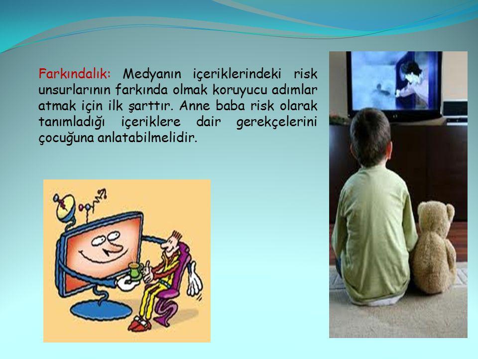 Önceden gözden geçirme: Ebeveynler gazetelerin televizyon sayfalarından, televizyon kuruluşlarının İnternet sitelerinden ve RTÜK'ün web sitesinden çocuklarının izleyecekleri programlarla ilgili bilgi alabilirler.