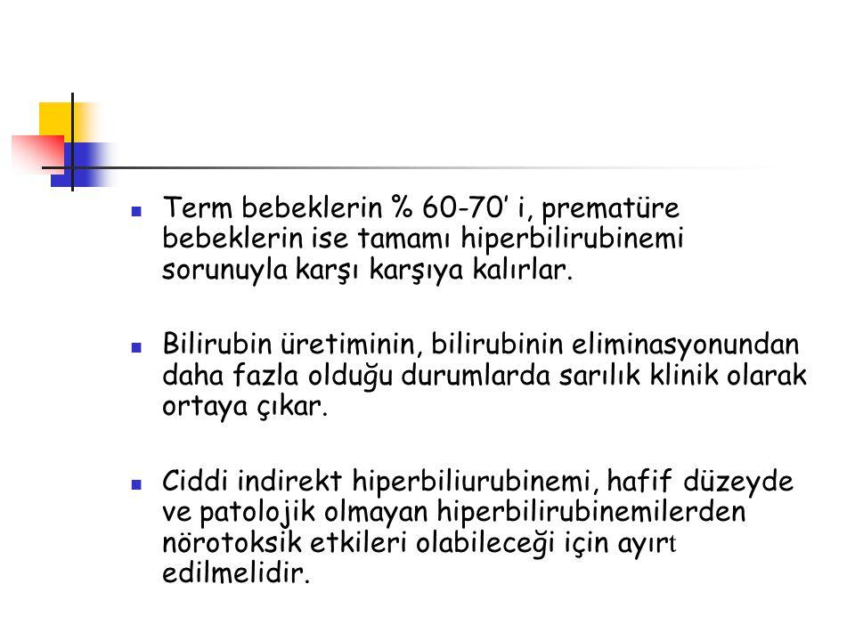 Bilirubin ensefalopatisi ve kernikterus Bilirubin ensefalopatisi akut dönemde ortaya çıkan ve genellikle reversibl olan klinik bulguları tanımlar.