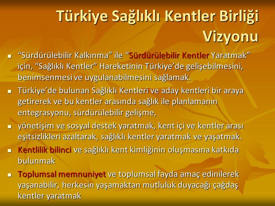 """Türkiye Sağlıklı Kentler Birliği Vizyonu """"Sürdürülebilir Kalkınma"""" ile """"Sürdürülebilir Kentler Yaratmak"""" için, """"Sağlıklı Kentler"""" Hareketinin Türkiye'"""